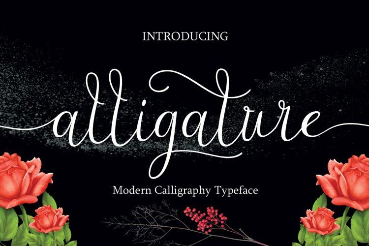Alligature script example image 1