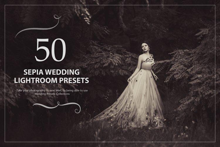 50 Sepia Wedding Lightroom Presets example image 1