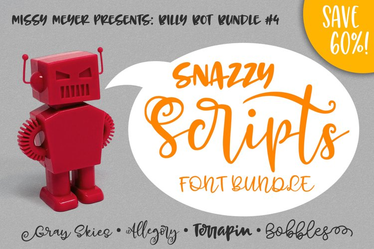Billy Bot Bundle 4 - Snazzy Scripts Font Bundle! example image 1