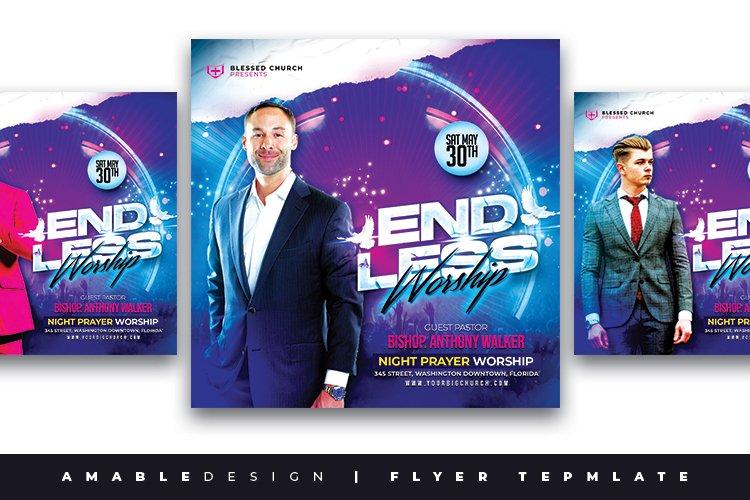 Endless Worship Church Flyer example image 1