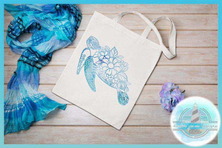 Floral Turtle Shell   Flower Mandala Zentangle SVG - Free Design of The Week Design2