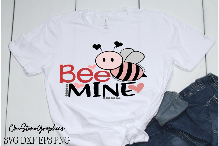 Valentines day svg,Bee mine svg,bee svg example image 1