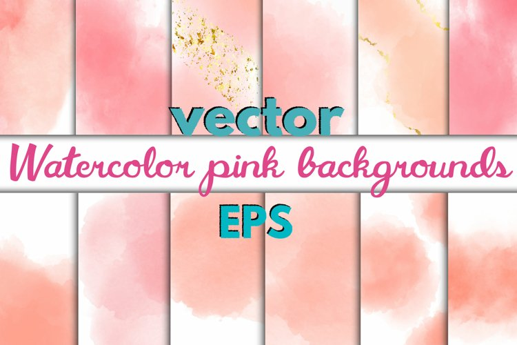 23 Watercolor pink backgrounds
