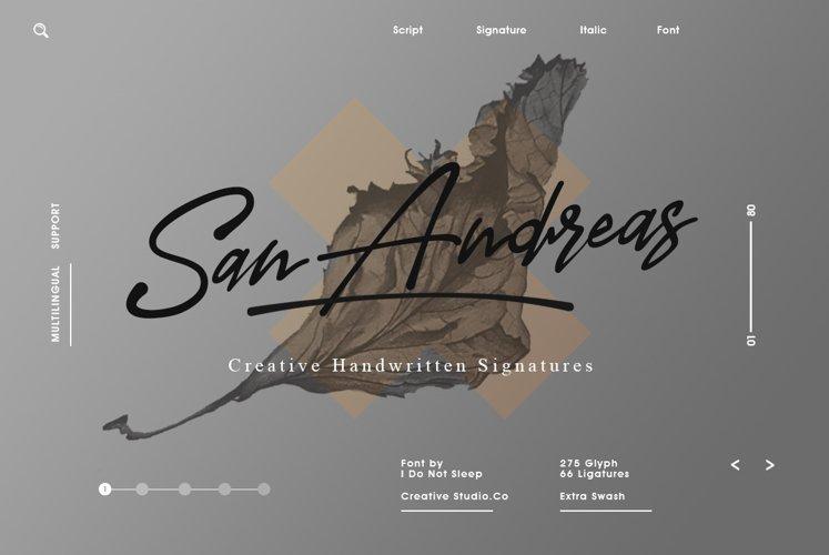 San Andreas Signature Font example image 1