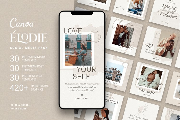 Elodie - Canva Templates for Instagram & Pinterest