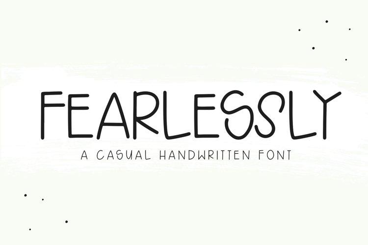 Fearlessly - A Casual Handwritten Font