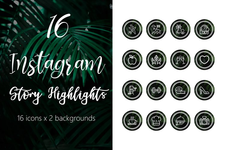 Instagram Story Highlight Icons - Tropical Pack example image 1
