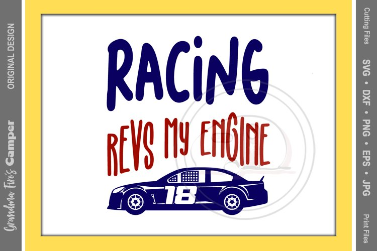 Racing SVG, Racing Revs My Engine example image 1
