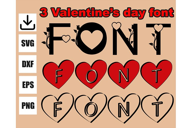 Mother's day font svg, 3 models example image 1