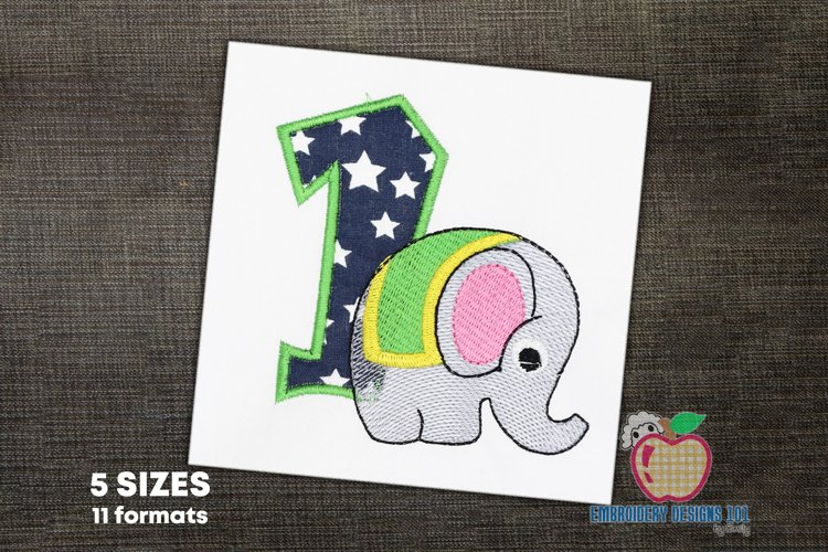 An Elephant Near The One Applique example image 1