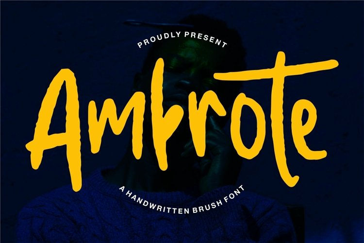 Web Font Ambrote - A Handwritten Brush Font example image 1