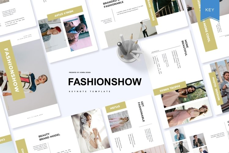 Fashion Show| Powerpoint, Keynote, GoogleSlides Template example image 1