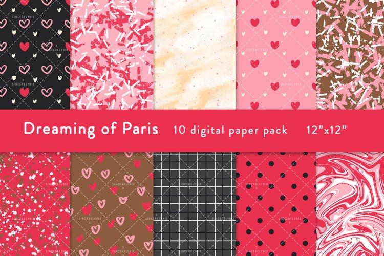 Paris Digital Paper Texture Valentines Holiday Planner