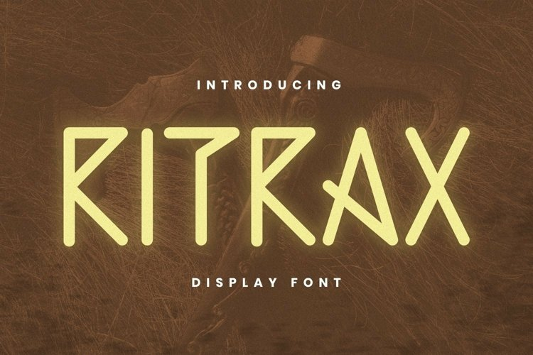 Web Font RITRAX Font example image 1