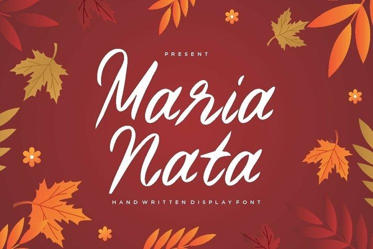 Web Font Maria Nata Script Font example image 1