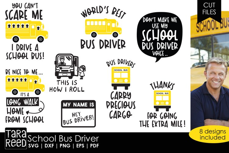 School Bus Driver SVG and Cut Files for Crafters