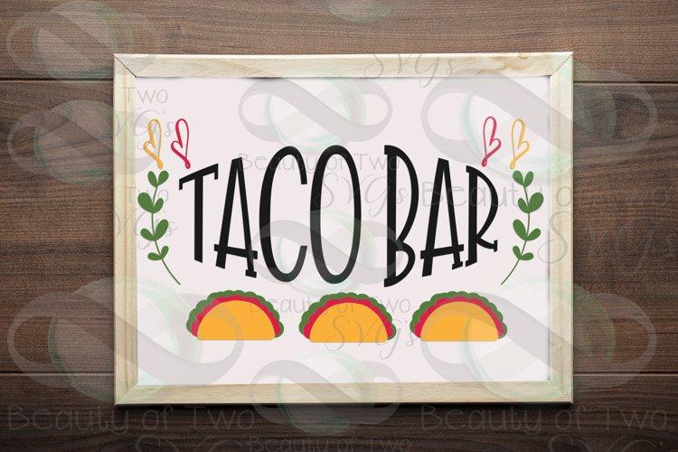 Cinco de Mayo taco bar svg & png, taco bar svg, taco svg example image 1
