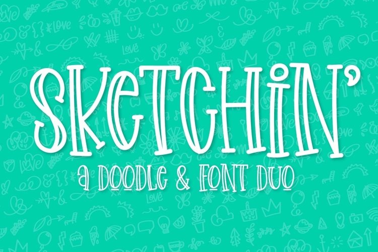 Web Font Sketchin - A Doodle & Font Duo example image 1
