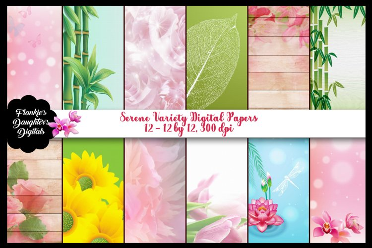 Serene Variety Digital Papers, Shabby Chic