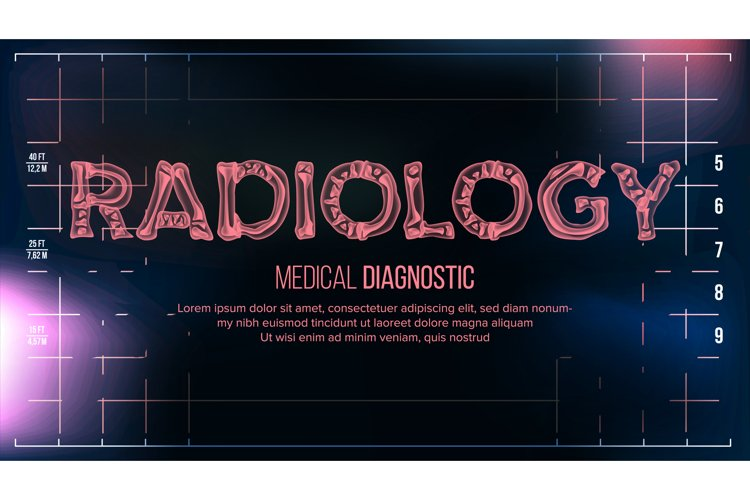 Radiology Banner Vector. Medical Background. Transparent example image 1