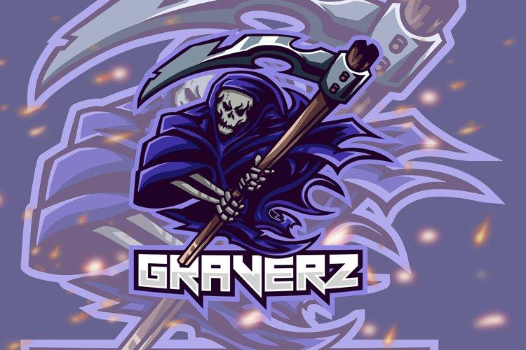 Graverz Skull Squad Esport Gaming Logo