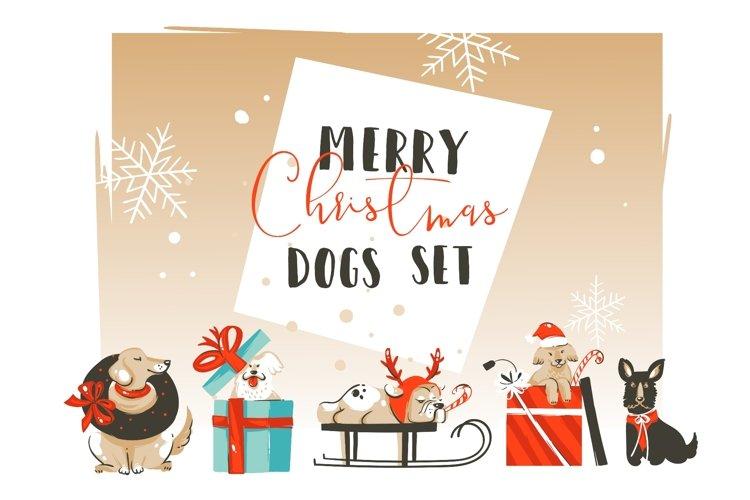 Christmas dogs set example image 1