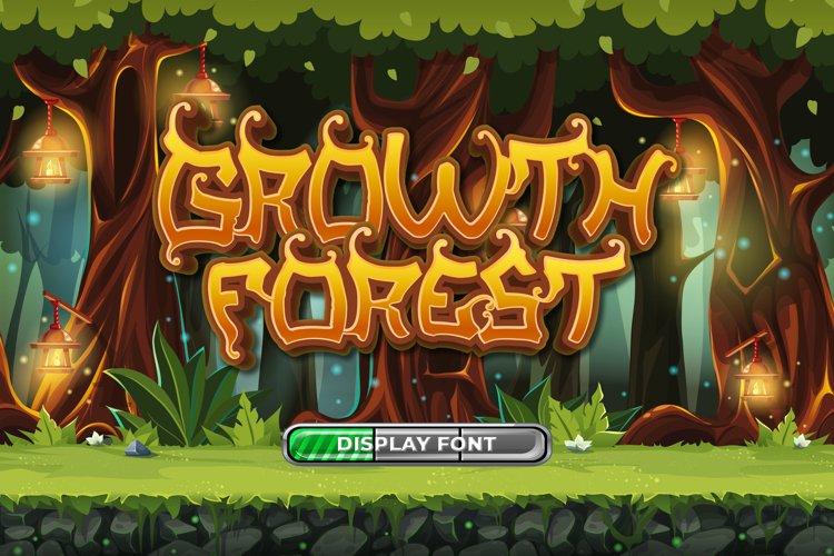 Growth Forest Display Font example image 1
