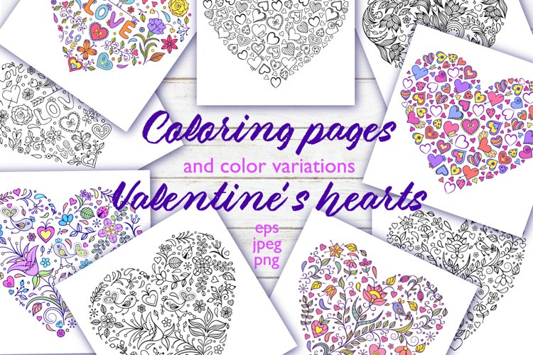 Floral Valentines hearts