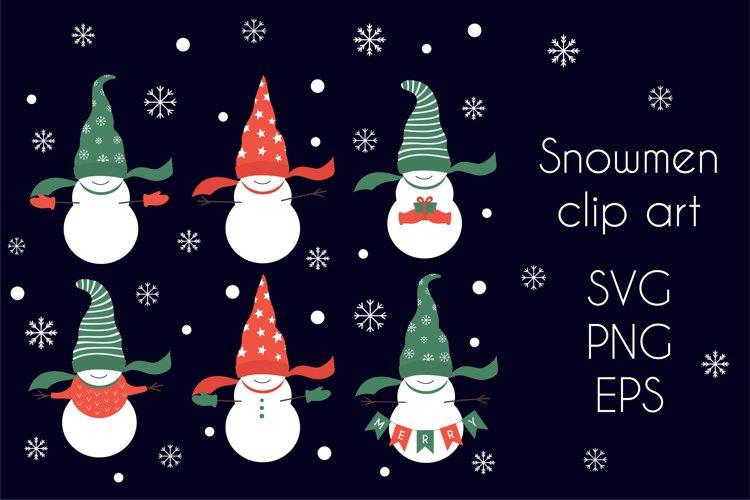 Snowman SVG, Snowmen clipart Christmas SVG example image 1