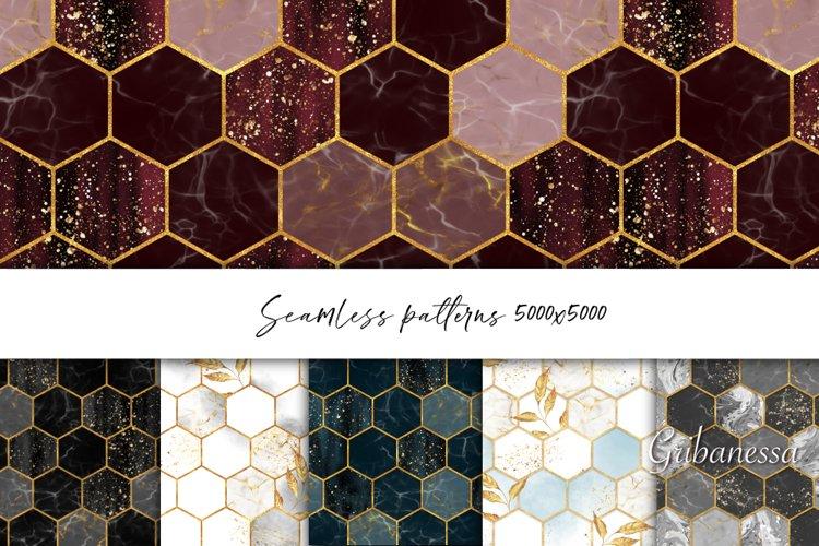 Hexagon patterns. Set of 6