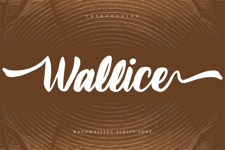 Wallice   Handwritten Script Font example image 1