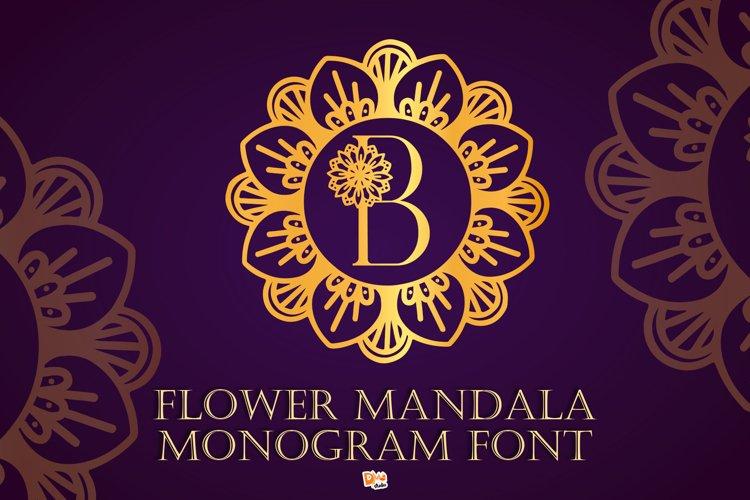 Flower Mandala Monogram Font example image 1