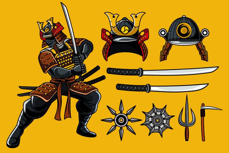 Samurai Vector Pack example image 1