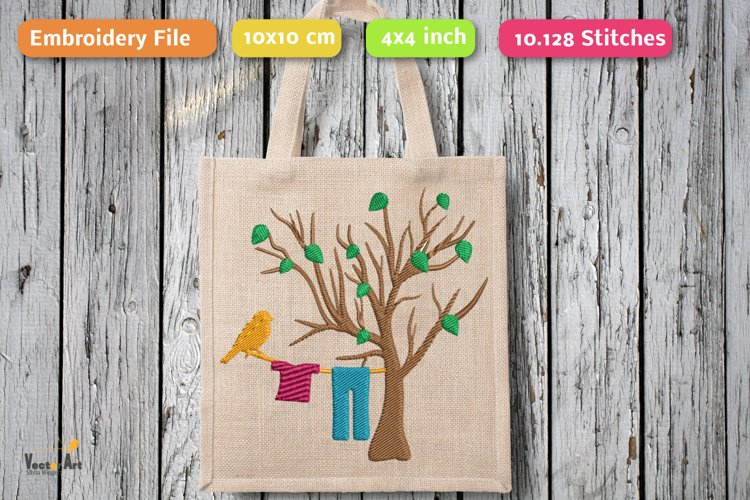 Spring Scene - Embroidery File example