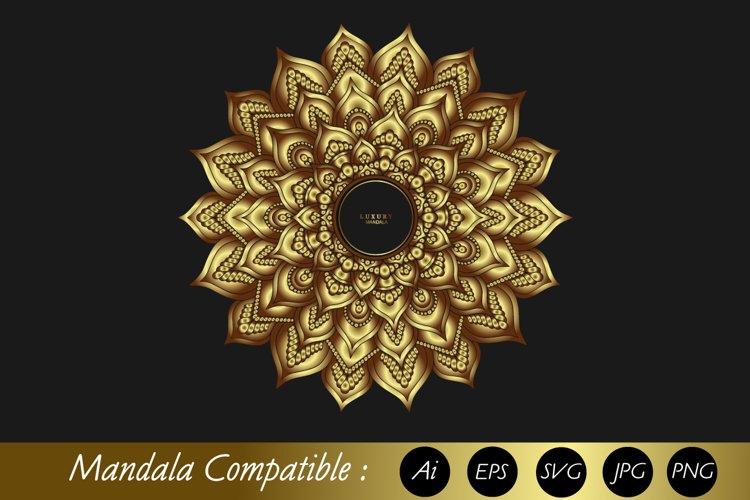 Mandala Gold with Eps 10, SVG ai example image 1