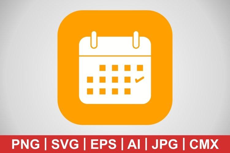 Vector Business Calendar Icon example image 1
