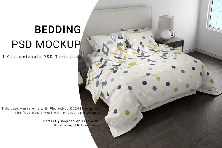 Bedding 3D Mockups example image 1