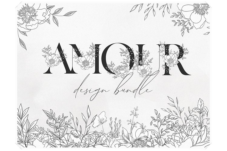 Botanical Clipart - Watercolor Floral Design Bundle