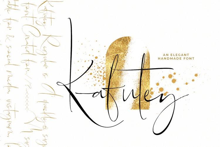 Kafutey - Elegant Handmade Fonts! example image 1