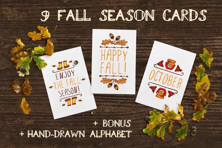 Hand-sketched fall season cards | SVG AI EPS PNG PSD JPEG example image 1