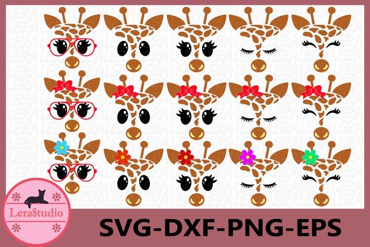 Giraffe Face SVG, Safari Animal face svg, Giraffe Eyelashes example image 1