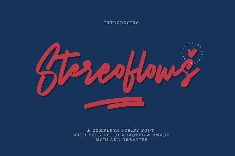 Stereoflows Font example image 1
