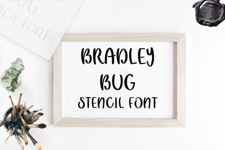 Bradley Bug Stencil Font example image 1