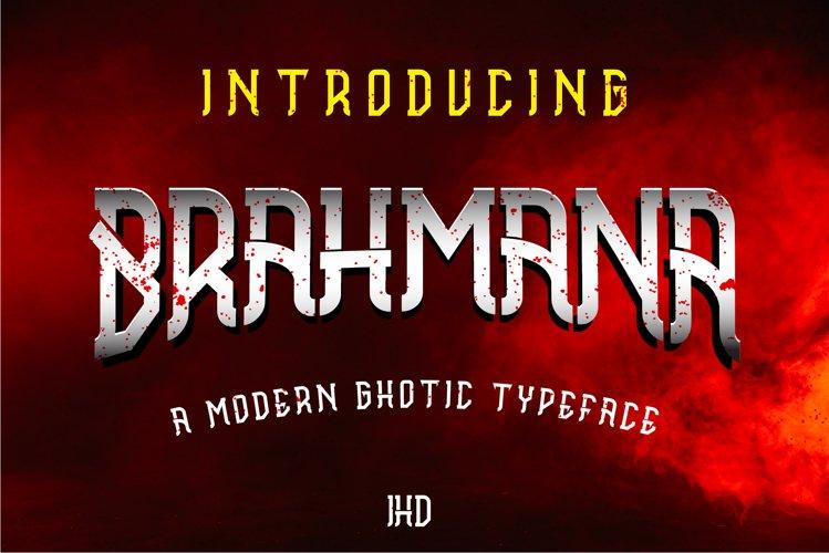 Brahmana - Modern Gothic Serif Sports Typeface example image 1
