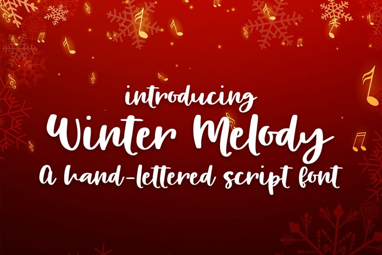 Winter Melody - A Hand-Written Script Font example image 1