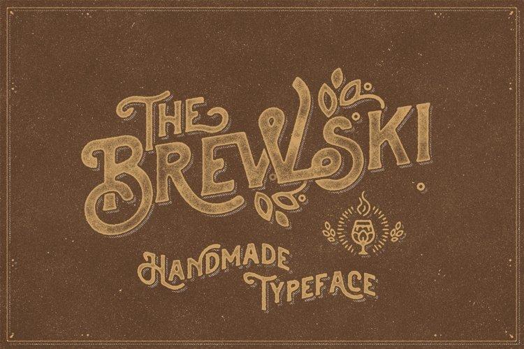 The Brewski - Textured Typeface example image 1