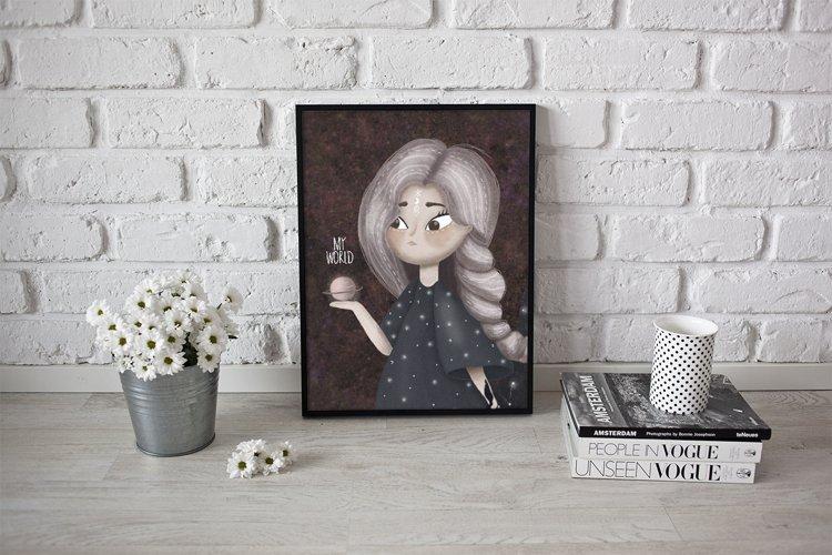 Cute girl illustration example 3