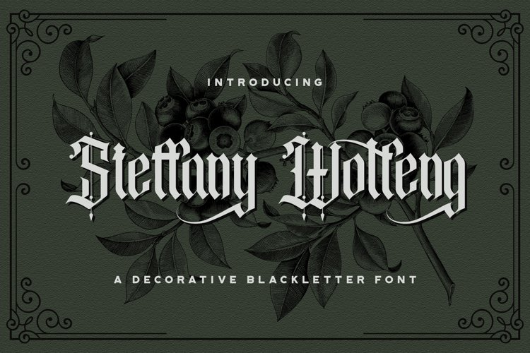 Steffany Wolfeng - Blackletter Font example image 1