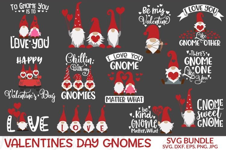 Valentine Gnomes Svg. example image 1