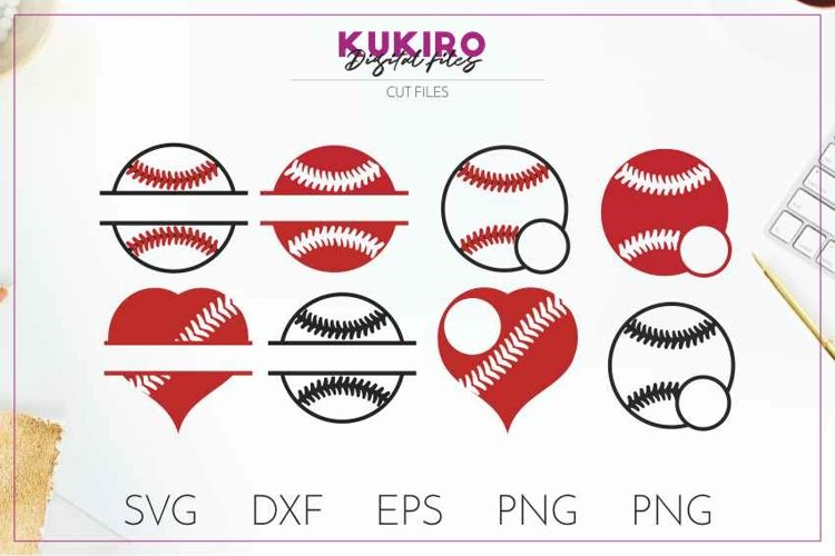 Download Baseball Monogram Split Frames Cut Files Sport Svg 219600 Cut Files Design Bundles